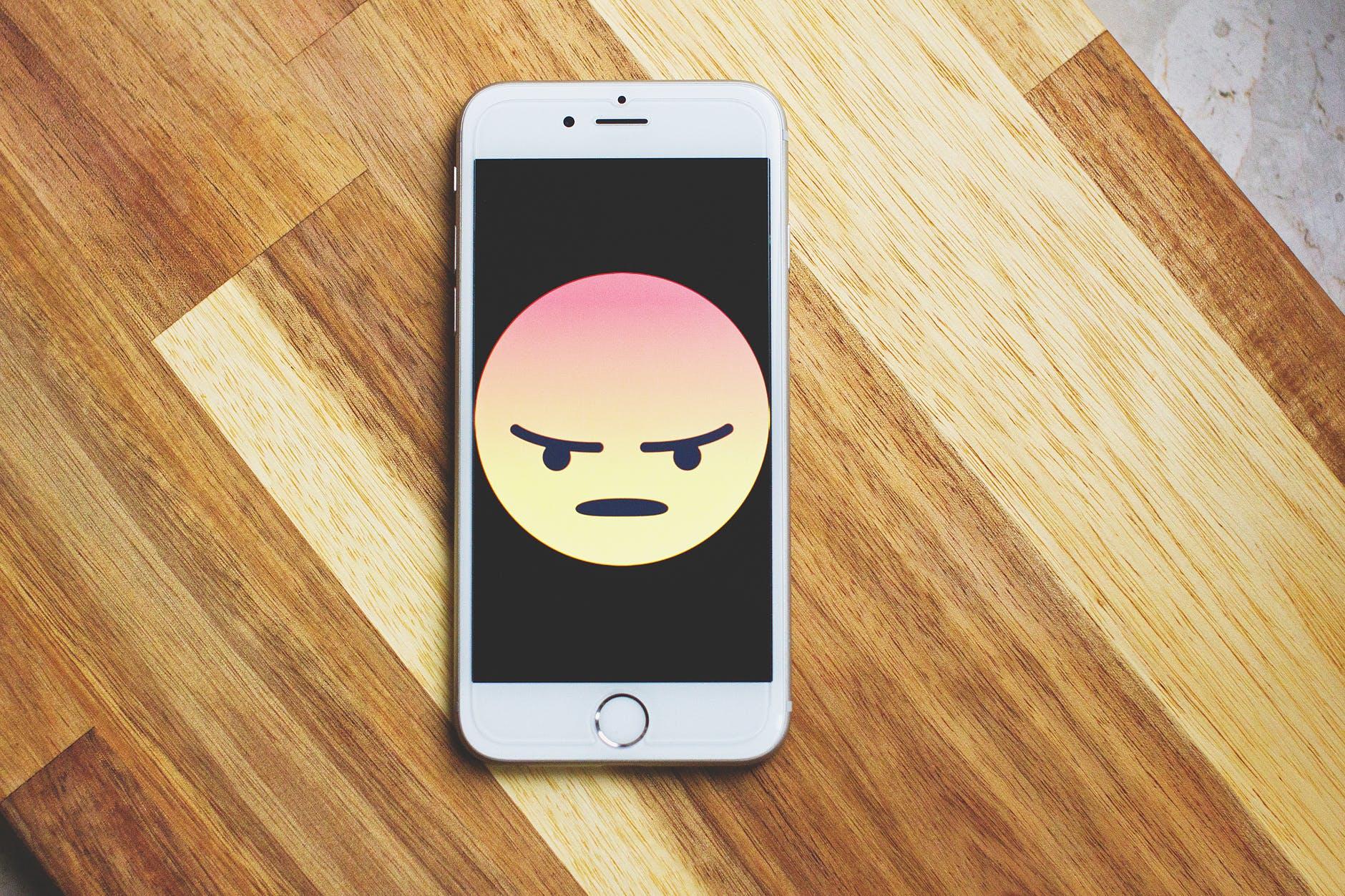 Image of emoji on phone